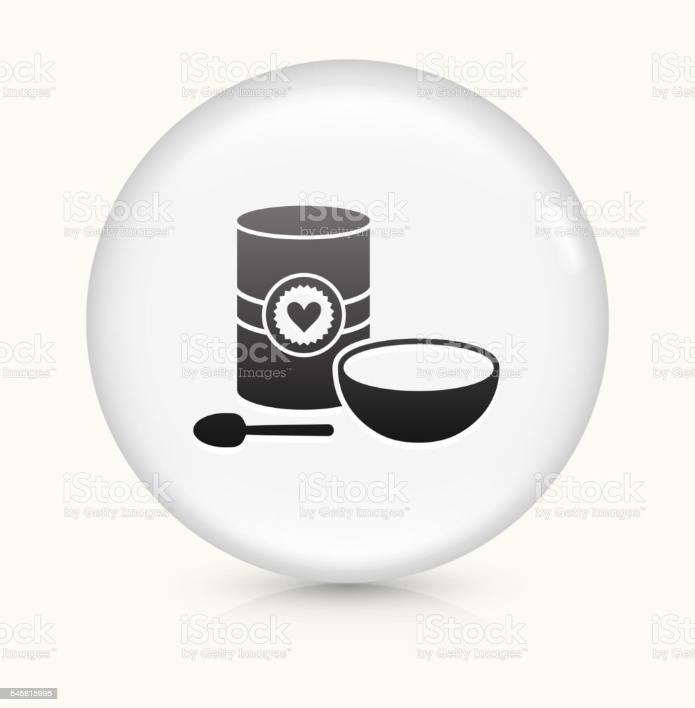 Oatmeal and Bowl icon on white round vector button vector art illustration