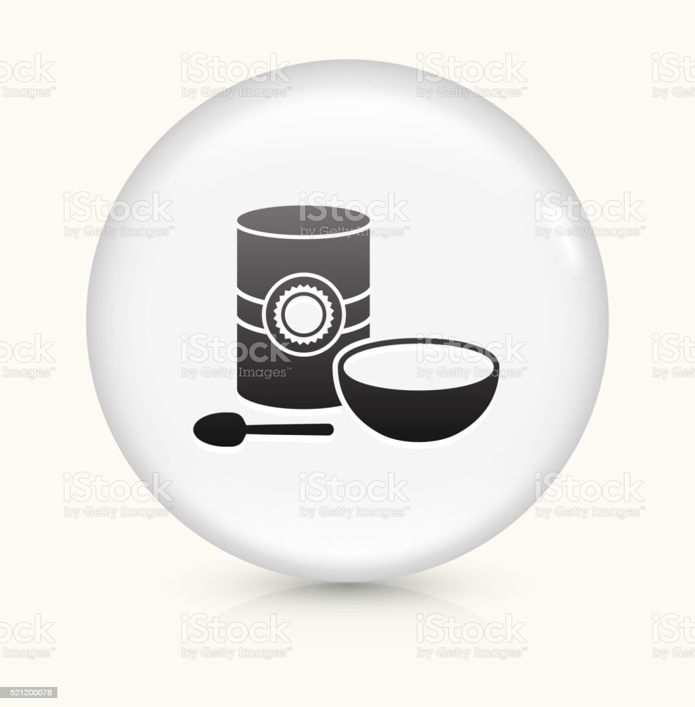 Oatmeal icon on white round vector button vector art illustration