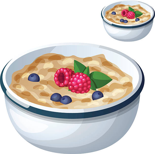 Oatmeal Clip Art, Vector Images & Illustrations - iStock