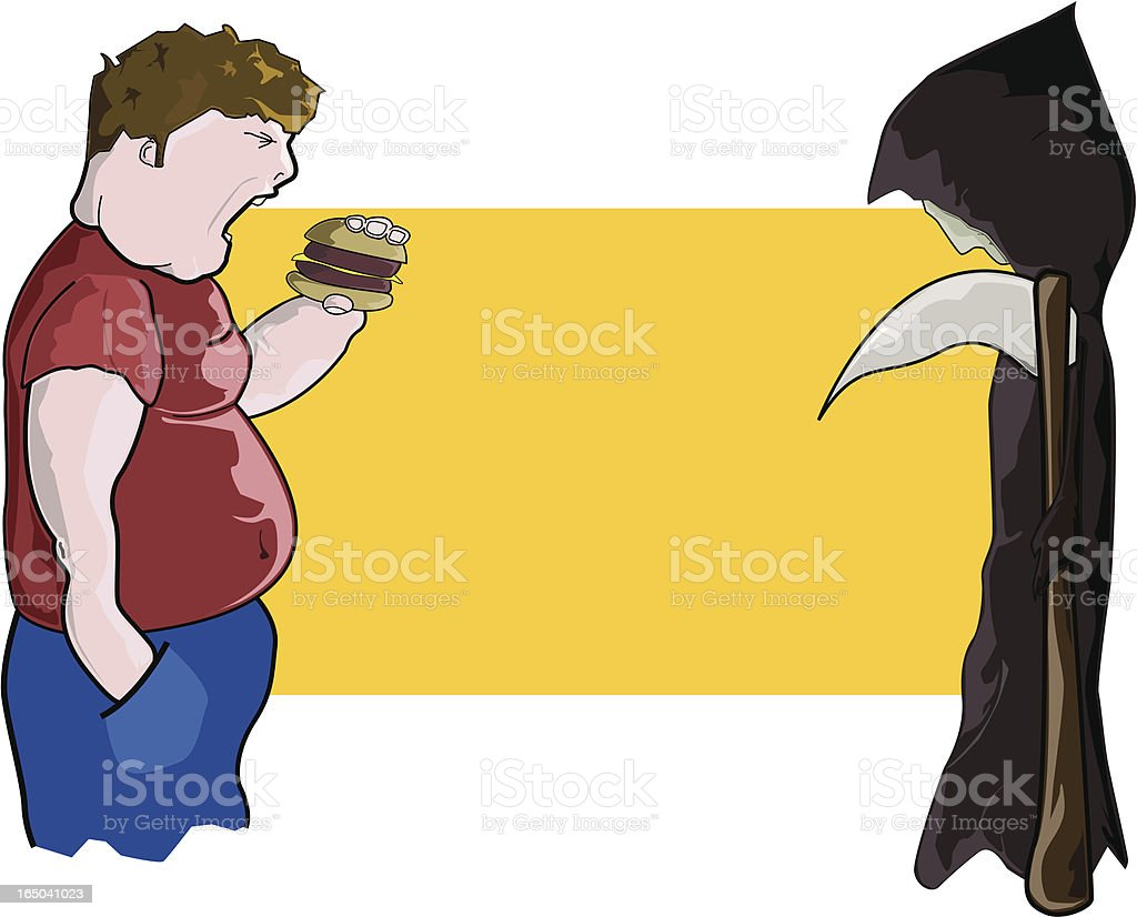 Obesity kills (VECTOR) vector art illustration
