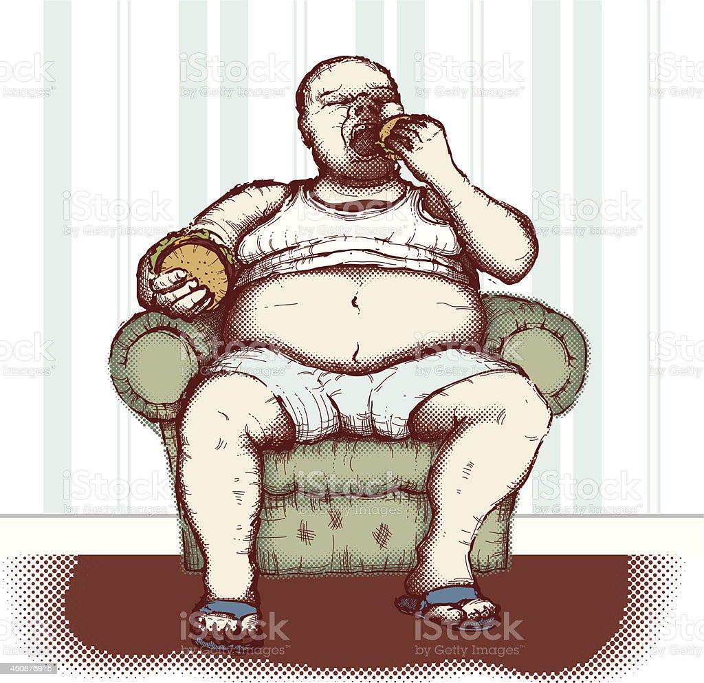 Obesity royalty-free stock vector art
