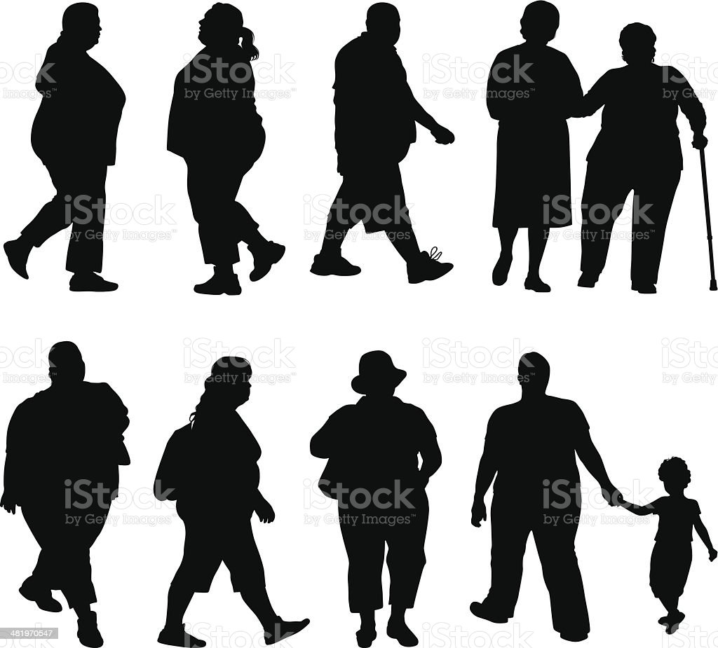 Obesity vector art illustration