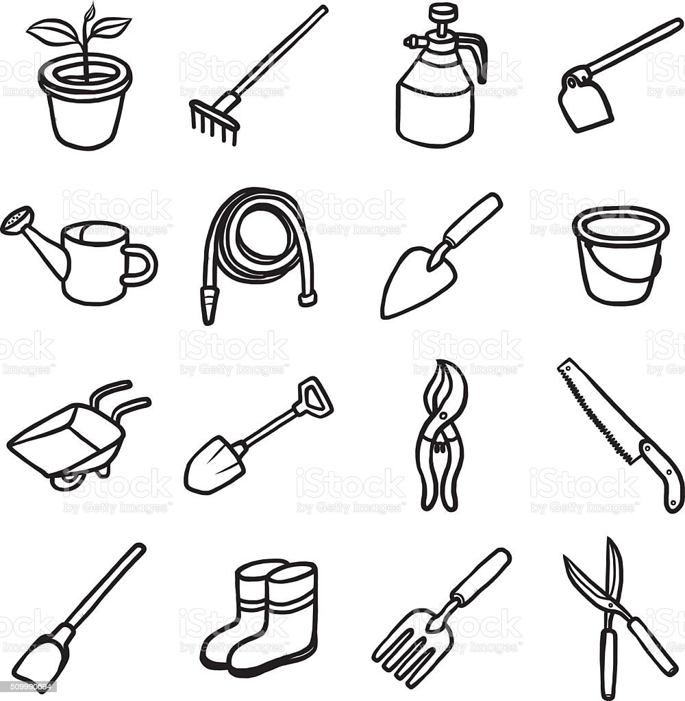 objects or icons set vector art illustration