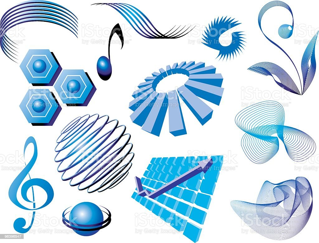 Objects royalty-free stock vector art