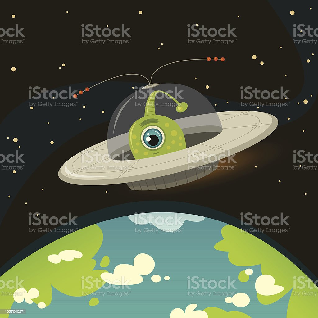 UFO - Observe and Report vector art illustration