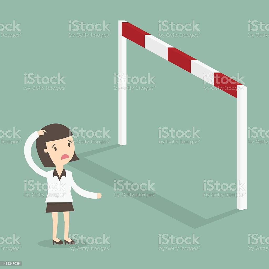 Obstacle vector art illustration