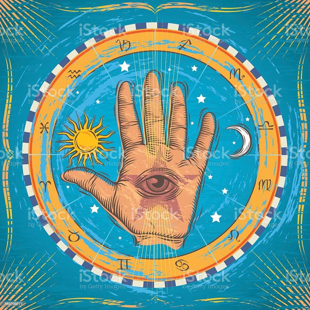 Occult Hand vector art illustration