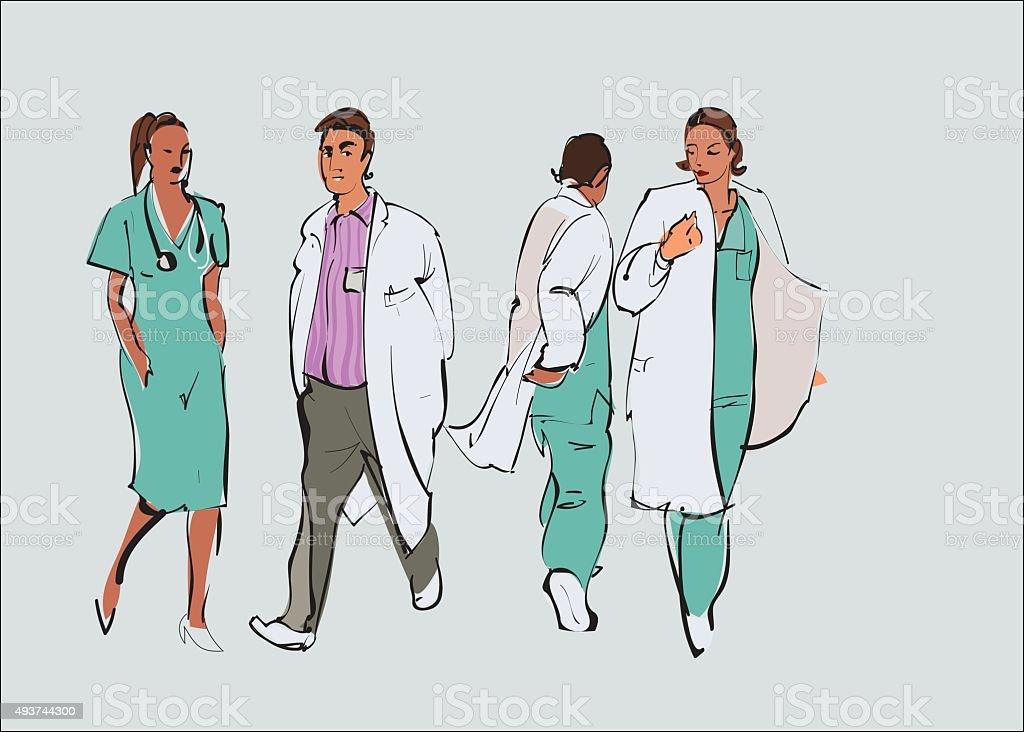 Occupation doctor set. Vector vector art illustration