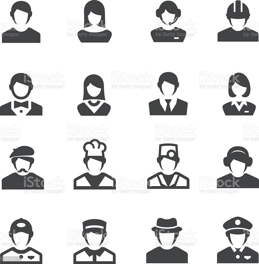 Occupation Icons - Acme Series vector art illustration