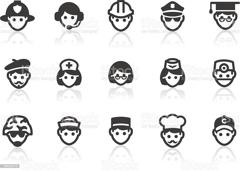 Occupation icons vector art illustration