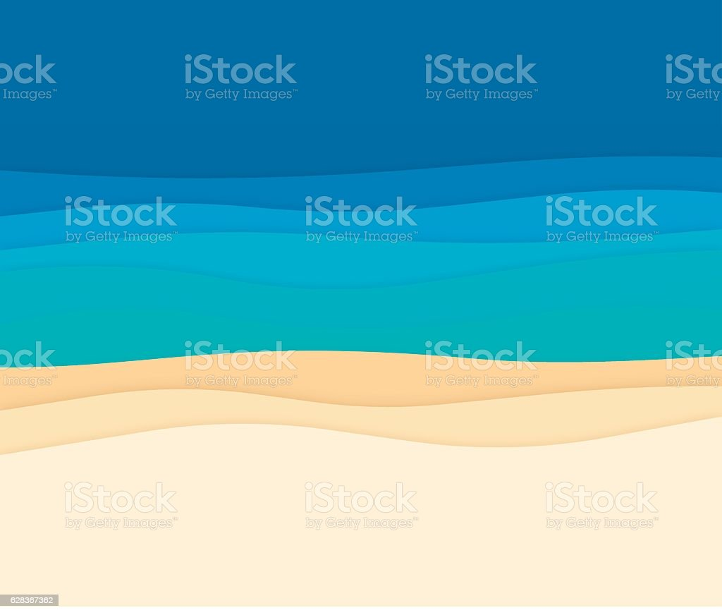 Ocean Abstract Background Waves vector art illustration