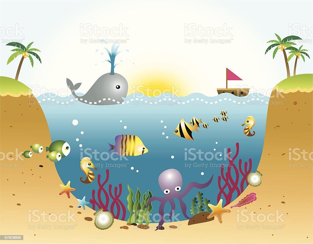 Ocean and Sea Life royalty-free stock vector art