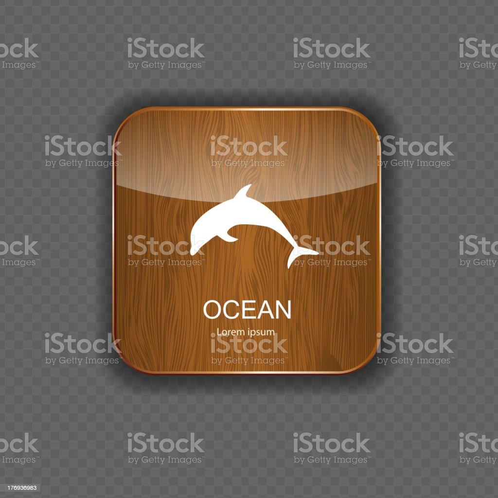 Ocean application icons vector illustration royalty-free stock vector art