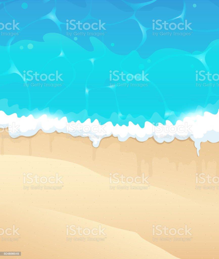 Ocean beach vector art illustration