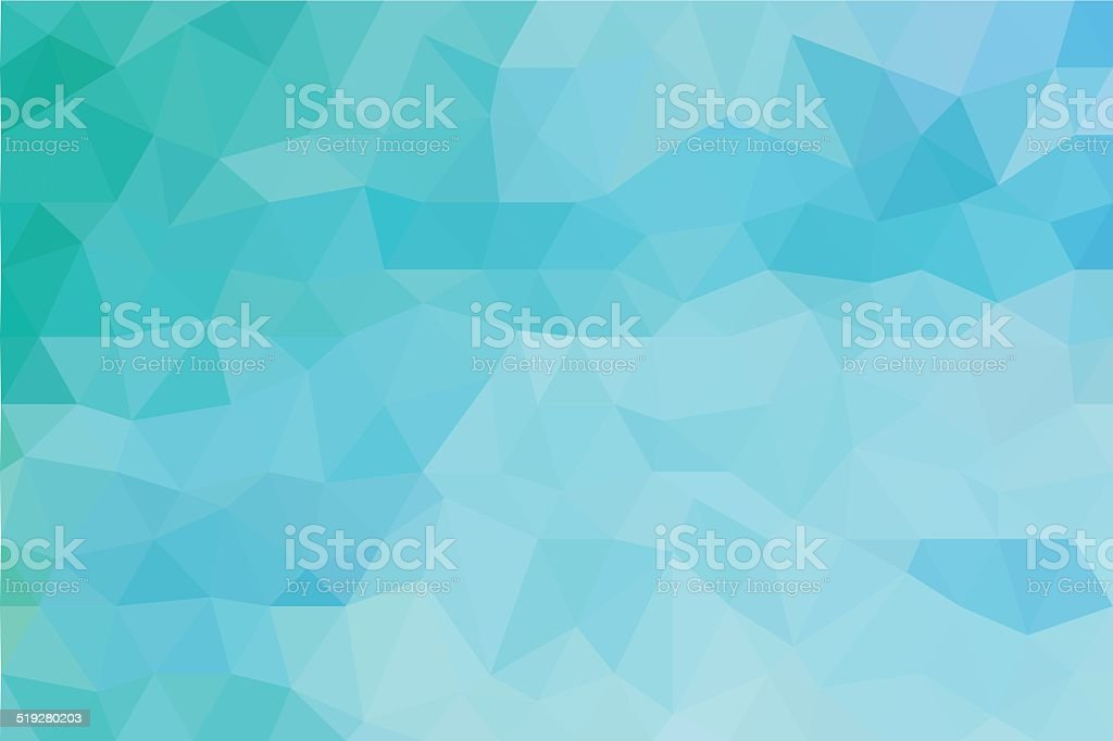 ocean blue polygon abstract background vector art illustration