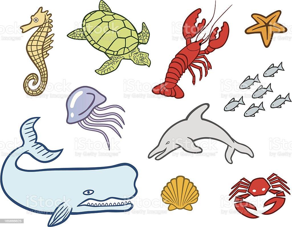 Ocean Creatures royalty-free stock vector art