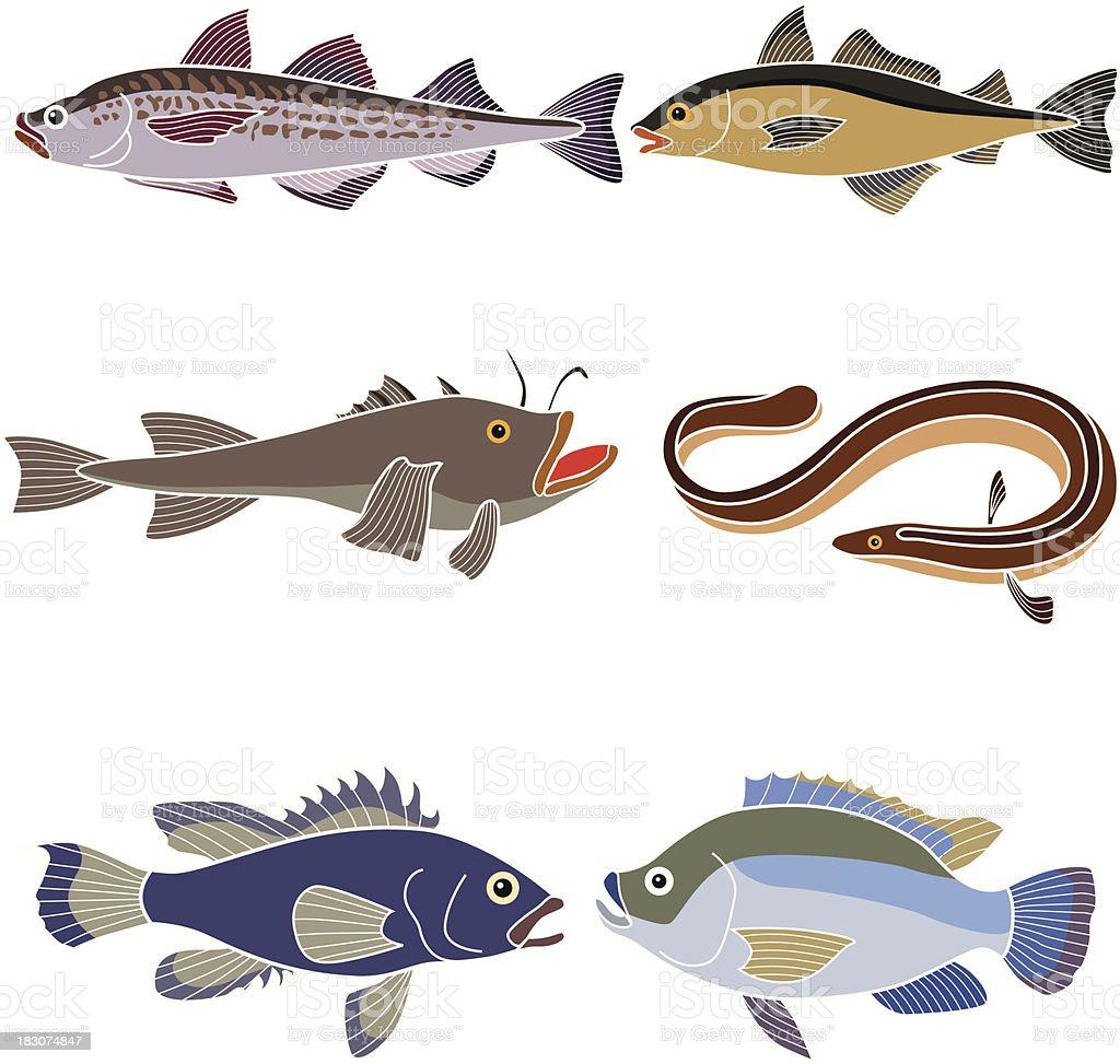 ocean fish vector art illustration