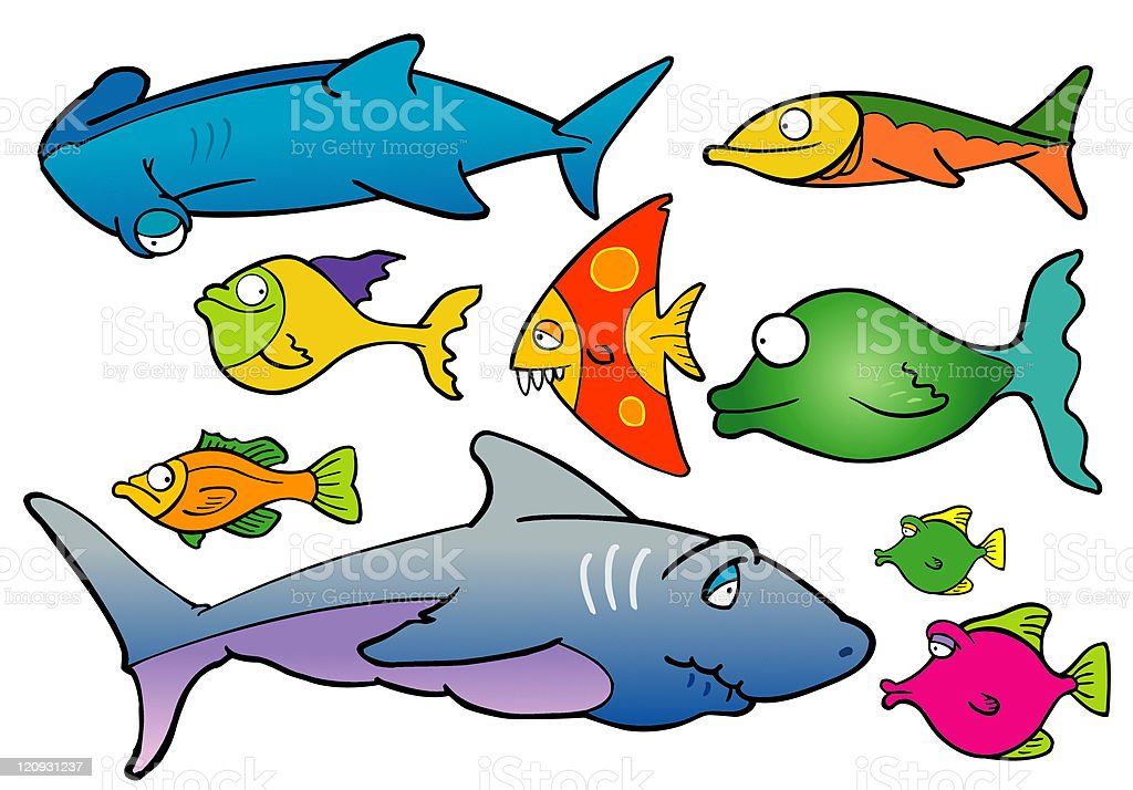 Ocean Fishes royalty-free stock vector art