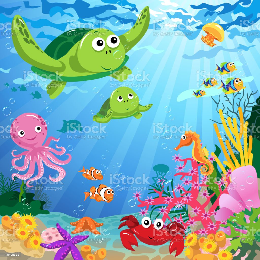 Ocean Life Under the Sea royalty-free stock vector art
