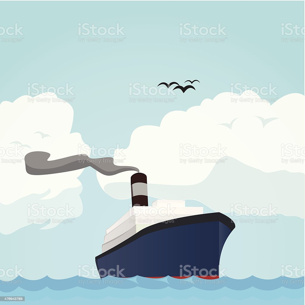 Ocean liner vector art illustration