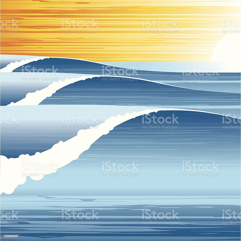 ocean scene royalty-free stock vector art