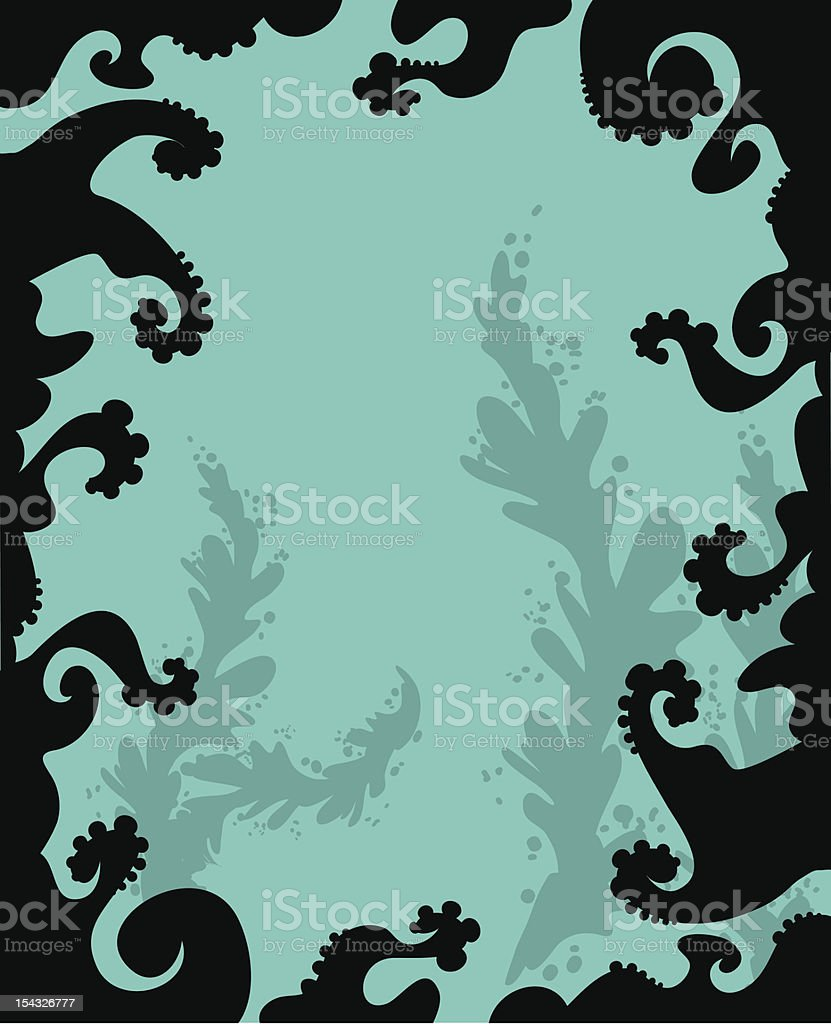 Ocean Tentacle Frame royalty-free stock vector art