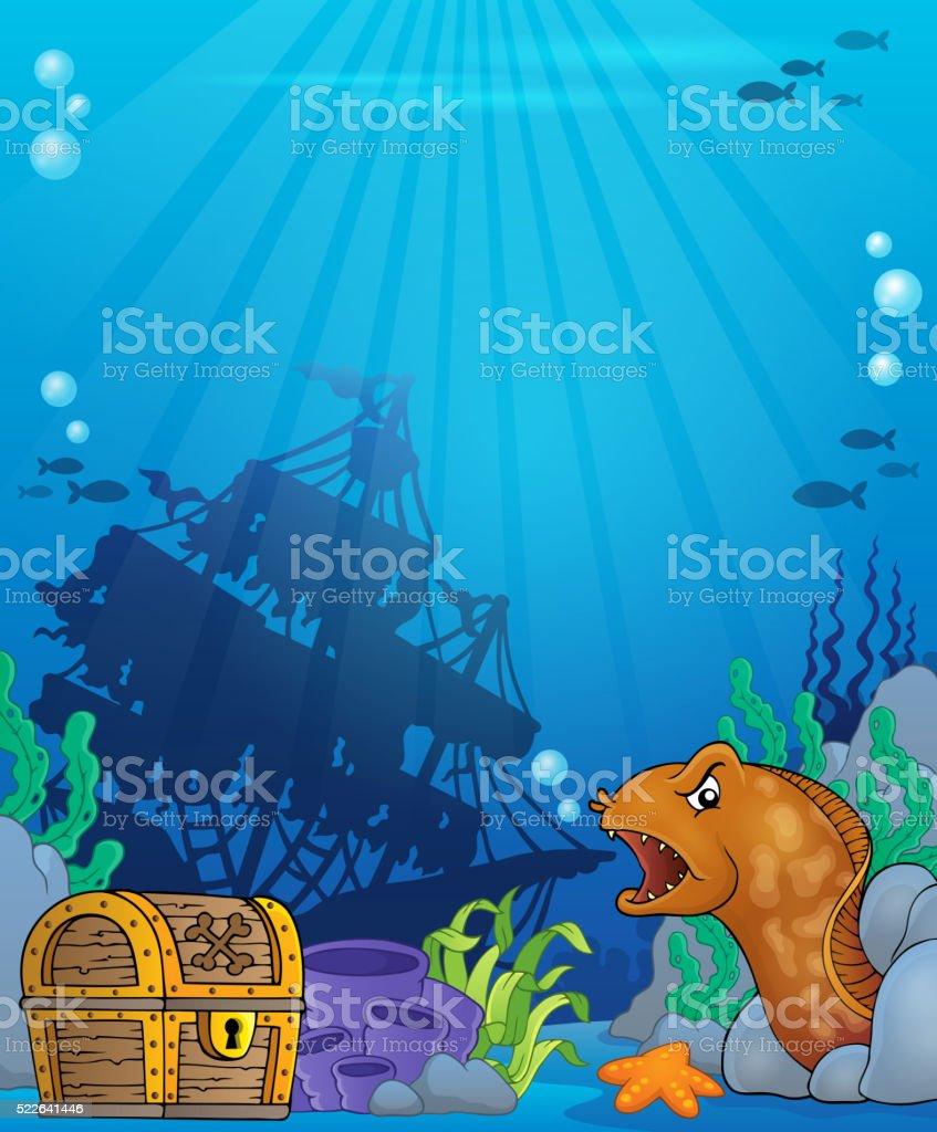 Ocean underwater theme background 6 vector art illustration