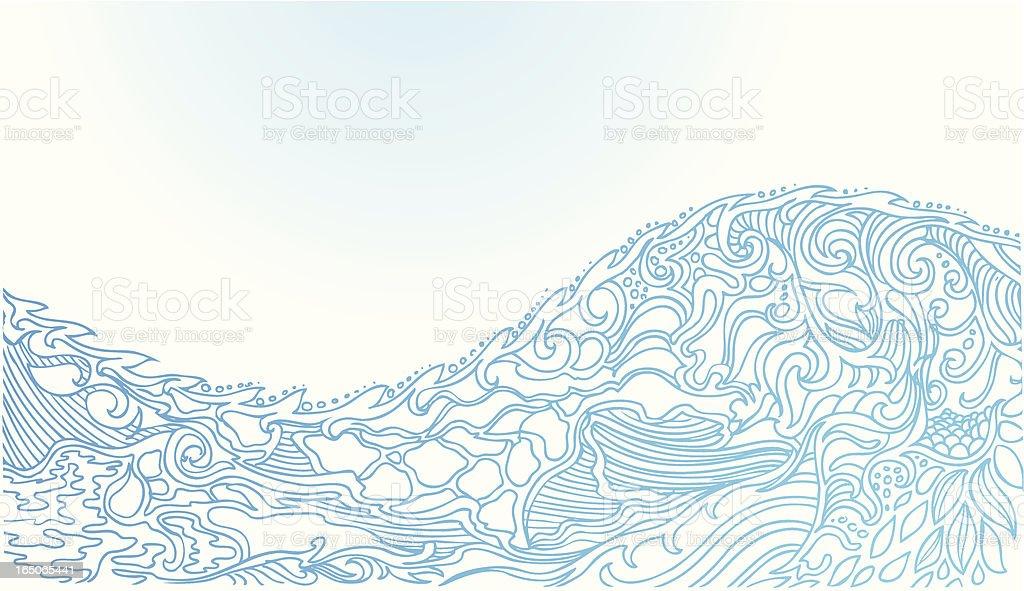 ocean wave Lizenzfreies vektor illustration