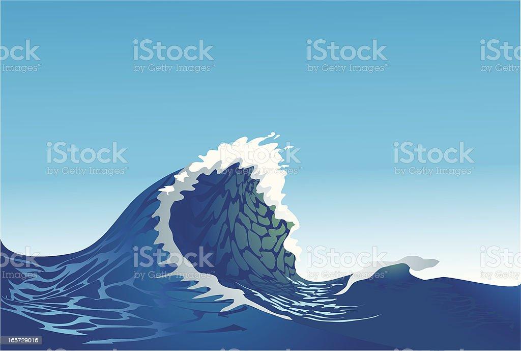 Ocean wave royalty-free stock vector art