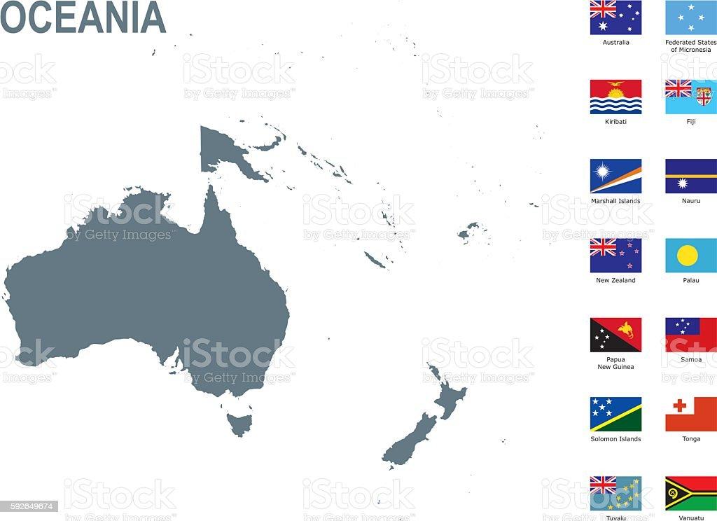 Oceania vector art illustration