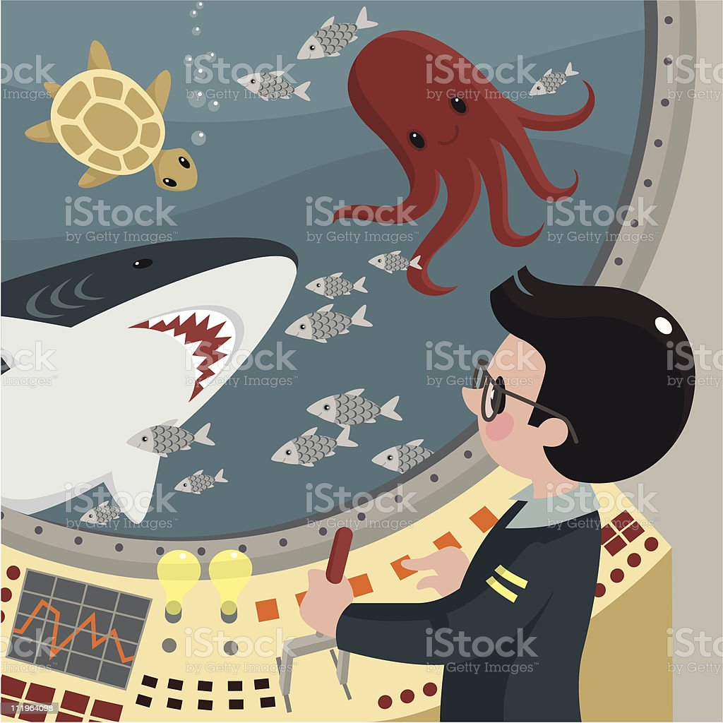 Oceanographer. royalty-free stock vector art