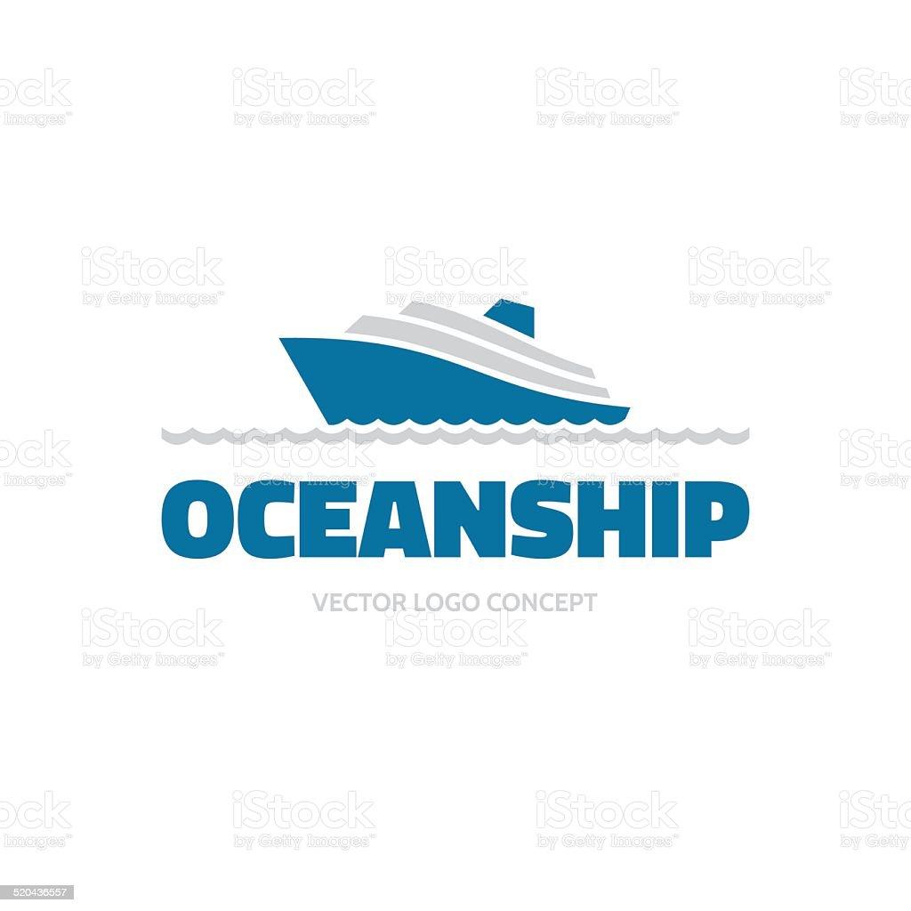 OceanShip - vector logo concept. Sea ship illustration. Vector logo template. vector art illustration