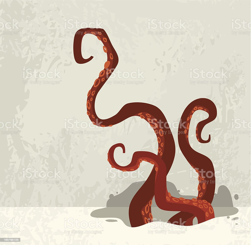 Octopus attack vector art illustration