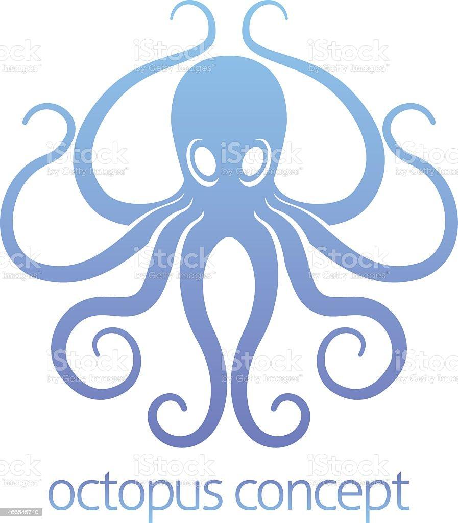 Octopus concept design vector art illustration