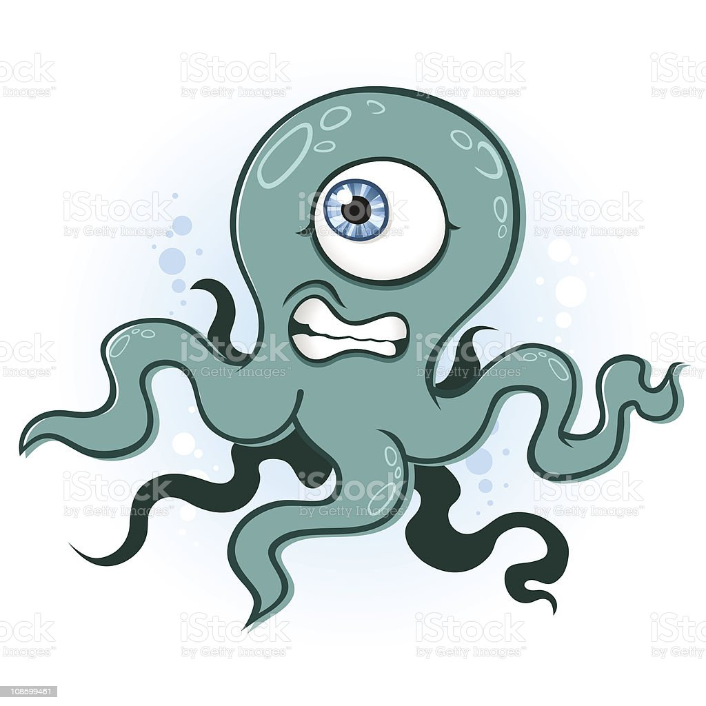 Octopus or Squid royalty-free stock vector art