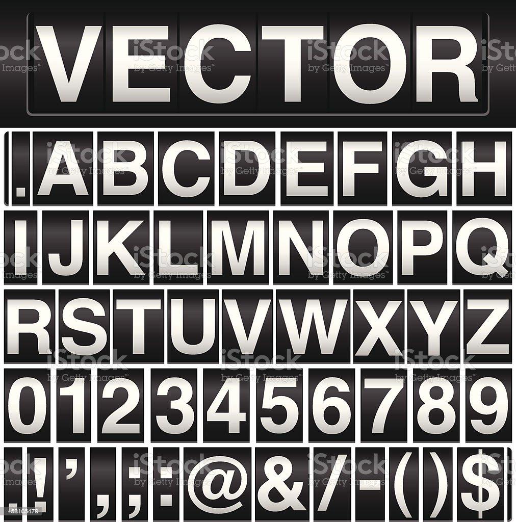 Odometer Alphabet vector art illustration