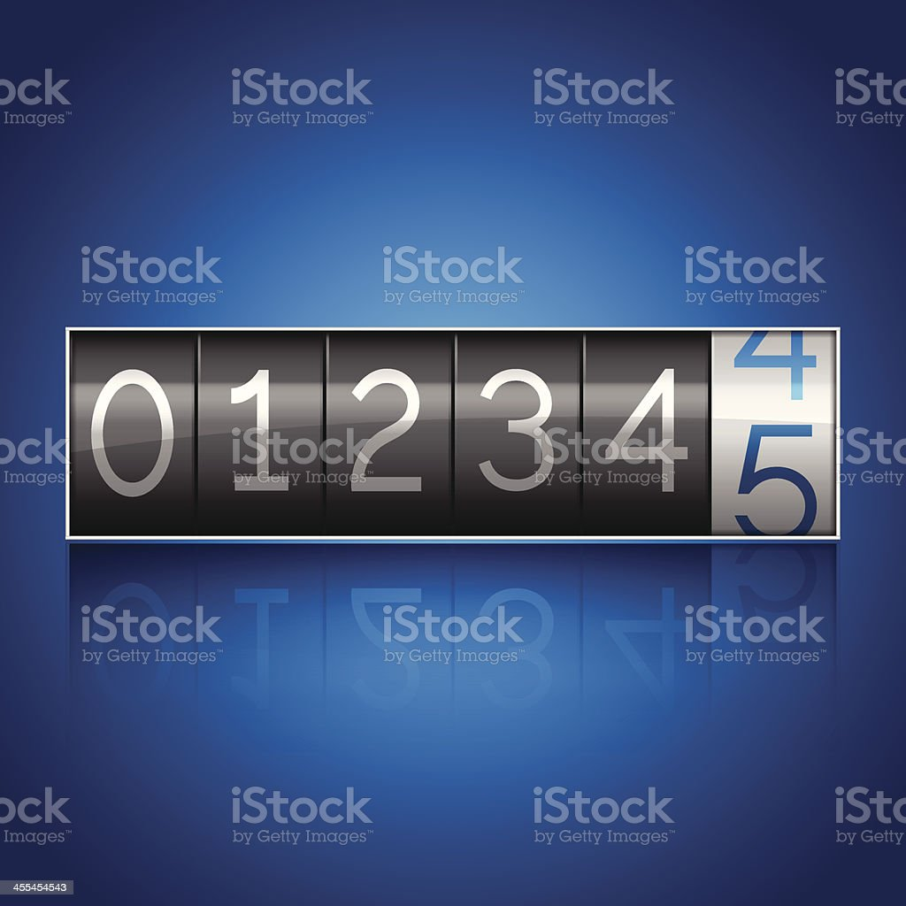 Odometer royalty-free stock vector art
