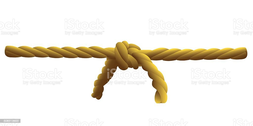 of rope knot vector art illustration