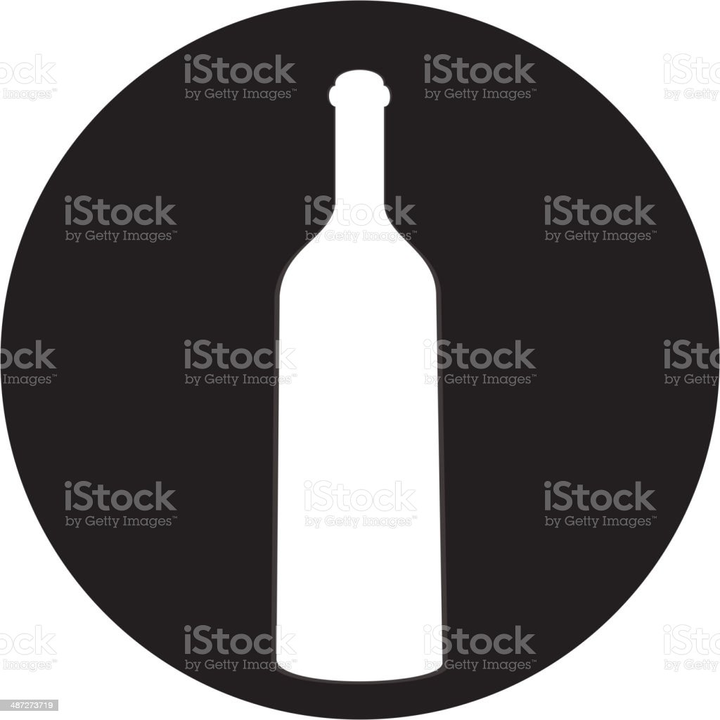 of wine and a glass icon royalty-free stock vector art