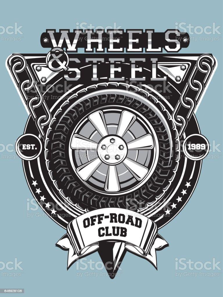 Design car club logo - Off Road Car Club Emblem Royalty Free Stock Vector Art