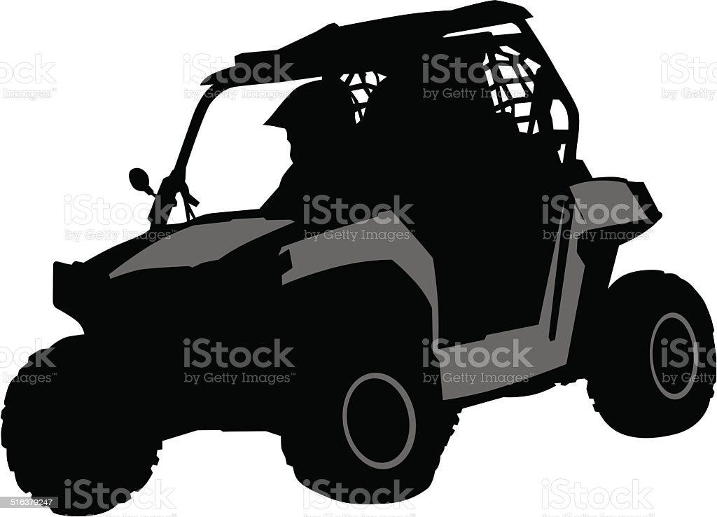Off road vector art illustration