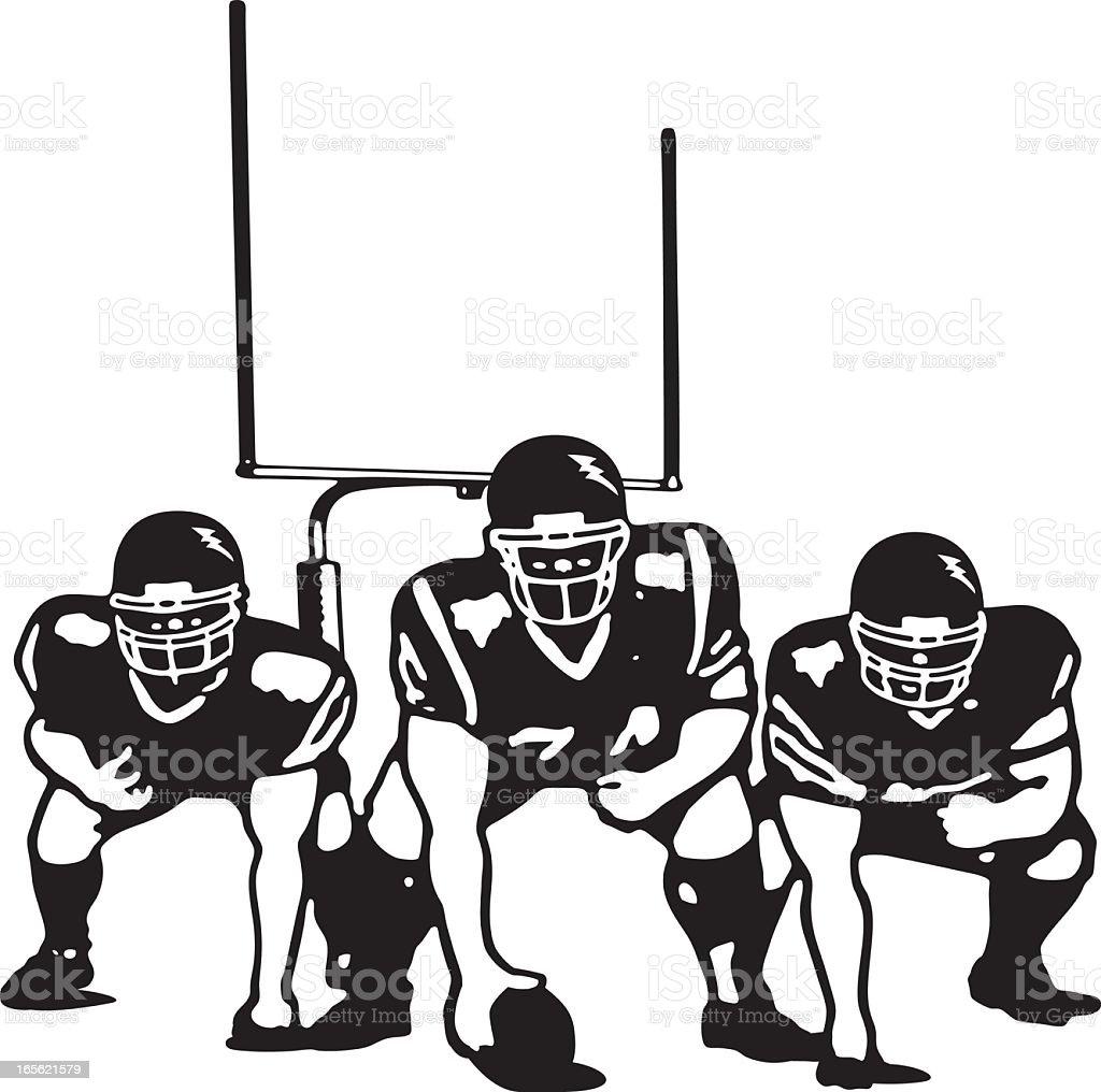 Offensive Line vector art illustration