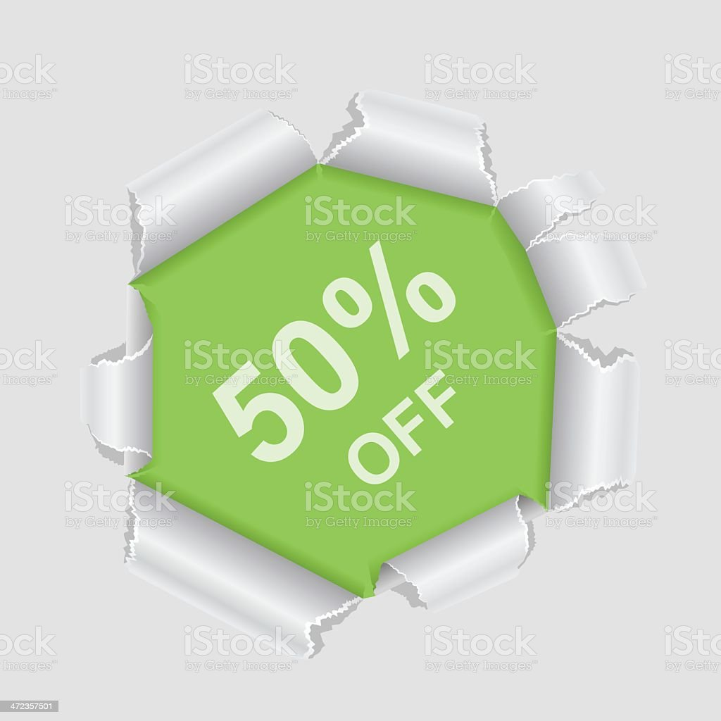Offer tag royalty-free stock vector art