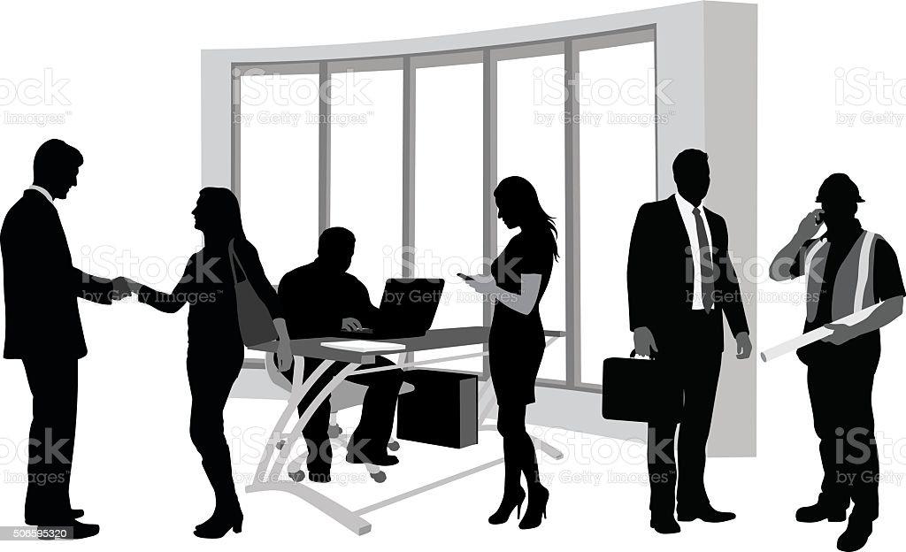 Office Activity vector art illustration
