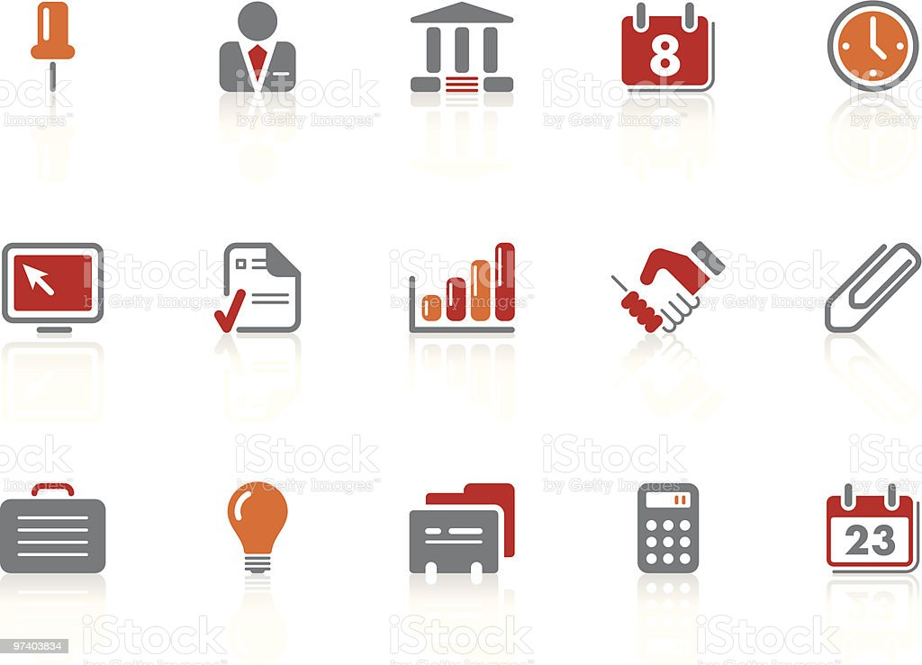 Office and business icons   Alto series vector art illustration
