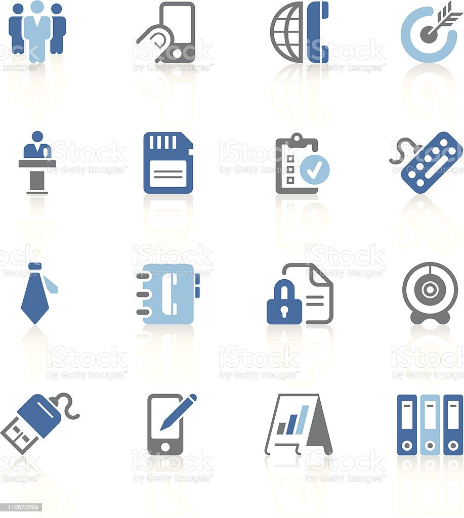Office and business icons | azur series vector art illustration