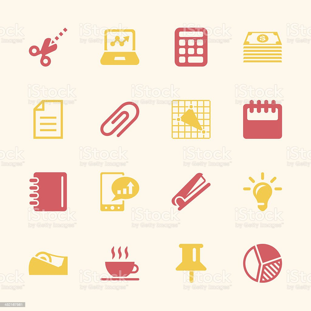 Office and Business Icons - Color Series | EPS10 royalty-free stock vector art