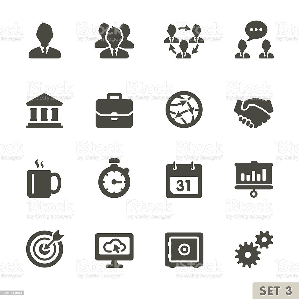 Office and business icons. vector art illustration