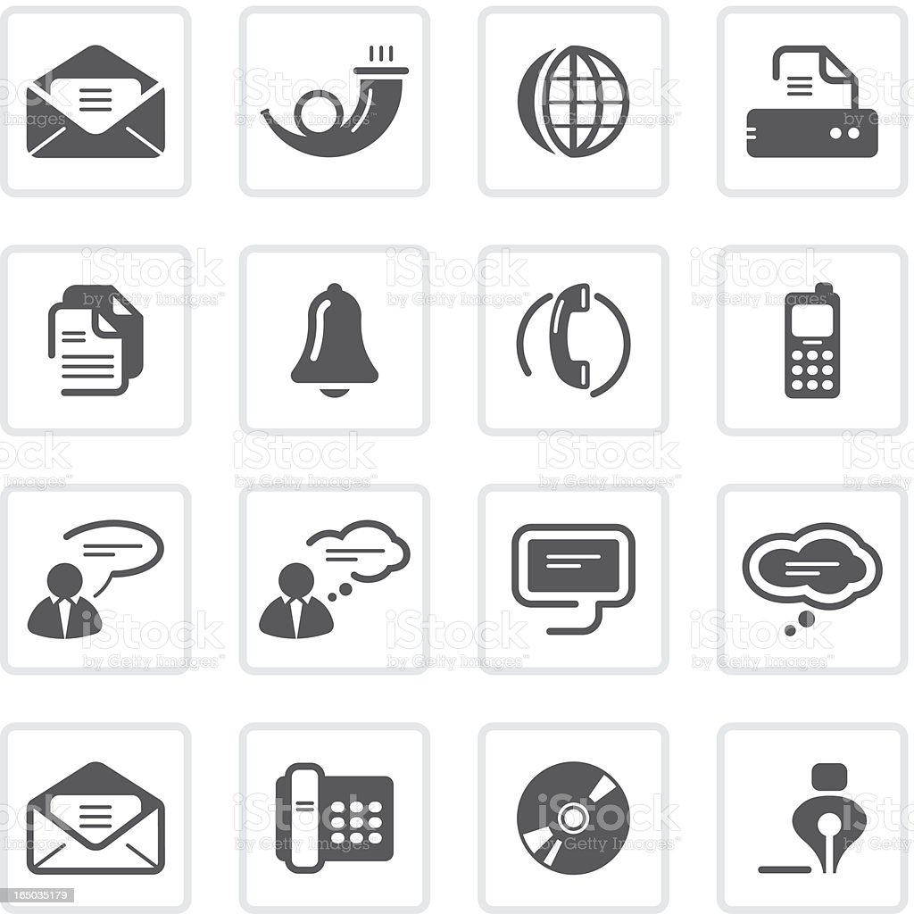 Office and Communication icons | prime series vector art illustration