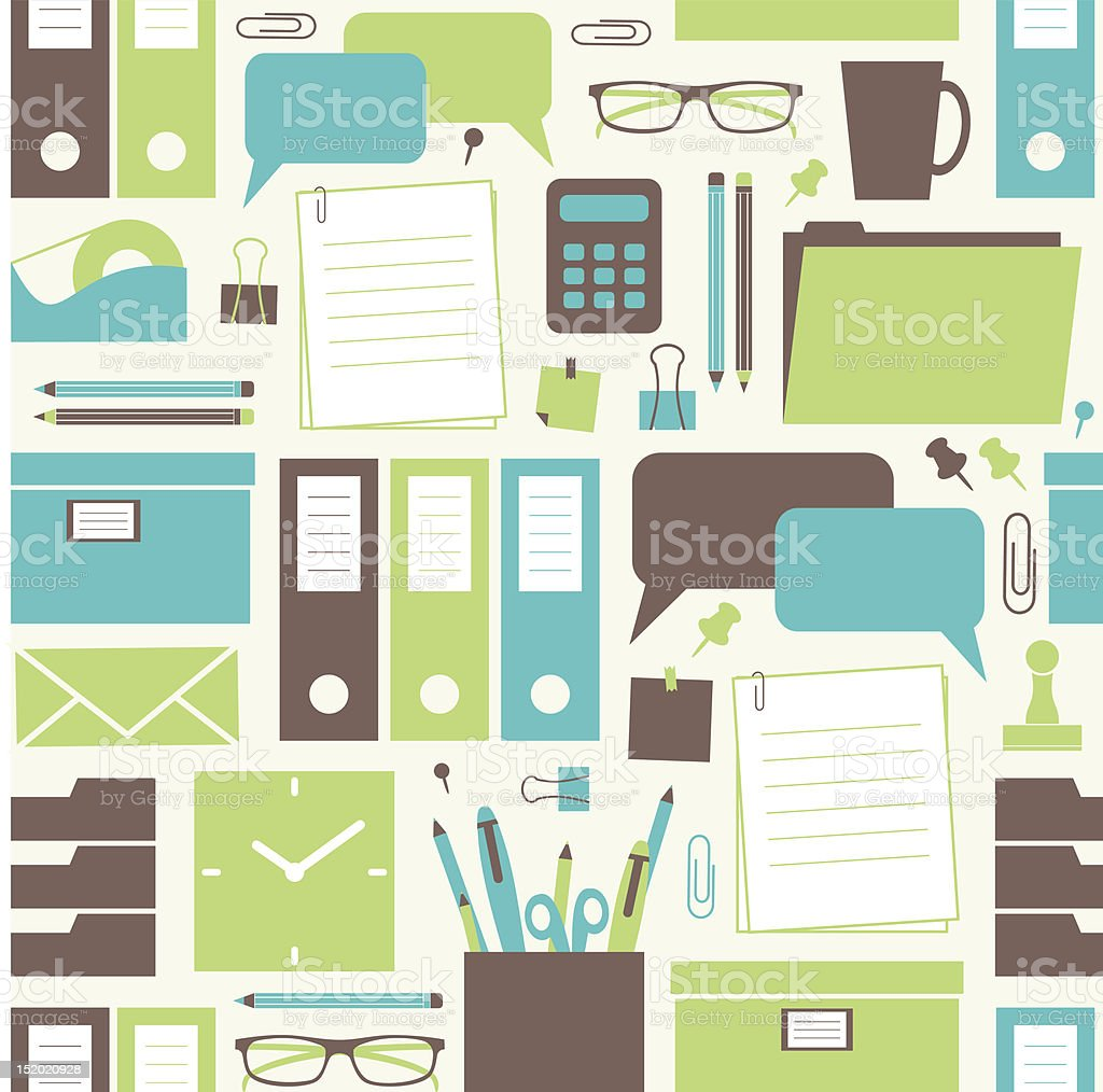 Office Background vector art illustration